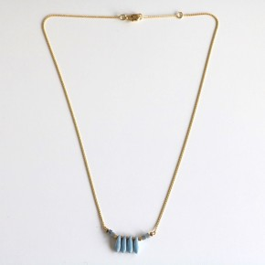 Collier Pierres Bleu