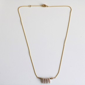 Collier Pierres Beige