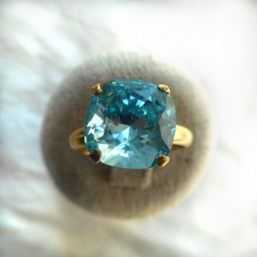 Bague jonc or turquoise