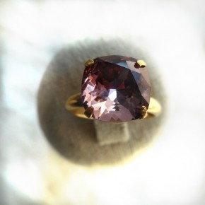 Bague jonc or antique pink